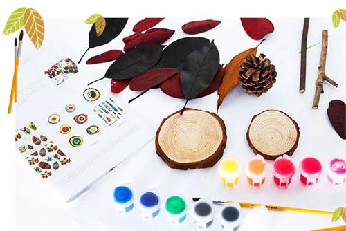 anmiro 创意树叶儿童画套装